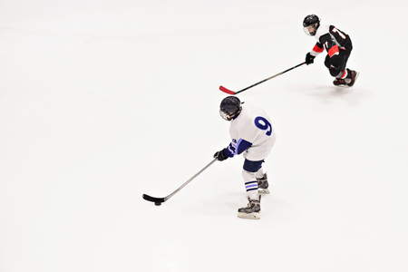 Sport for Kids. Young ice hockey players Stock fotó