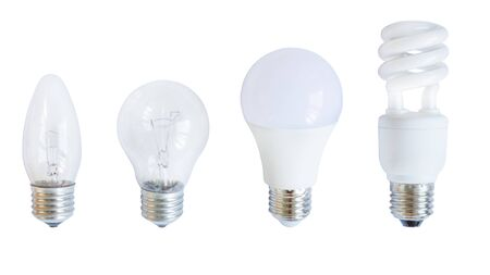 Light bulb isolated on white background. LED bulb, save electricity concept. Standard-Bild