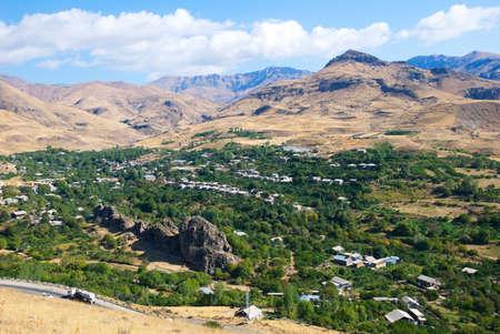 Autumn rural landscape of mountains, Armenia