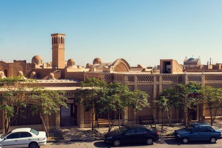 Panoramic view of the roofs of the city of Kashan, Iran. Historical old ancient city Reklamní fotografie - 131513510