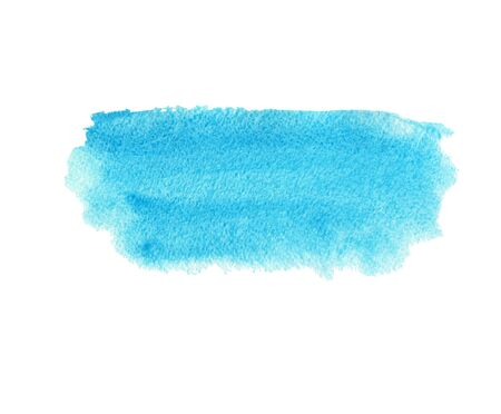 Blue abstract strip of watercolor background, wet smear. Hand drawn template Stock fotó - 133694295