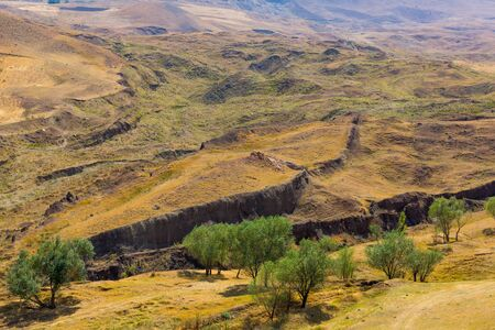 Estimated location of Noah's Ark in Eastern Turkey, Agri Province. Noah's Ark National Park. Searches for the bible relic. Outlines of the Ark in the ground