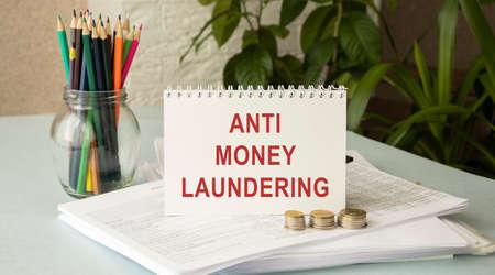 Business Acronym AML Anti Money Laundering, business concept