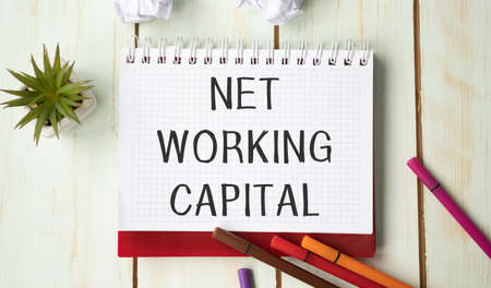 Net Working Capital card with sky background
