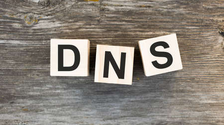 DNS text on cubes, Domain Name System