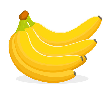 A bunch of ripe bananas on a white background.