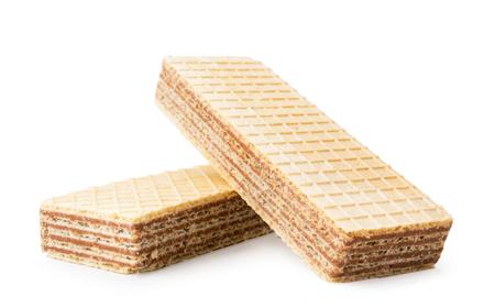 Dos galletas de galleta sobre un fondo blanco. Aislado