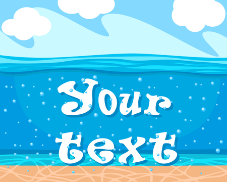 Seabed background for your text. View under water.