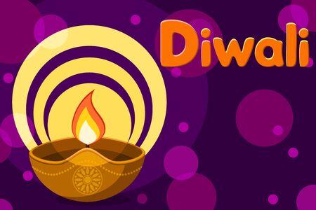 Diwali indian festival of lights, background. Place for text. Banco de Imagens - 129701082