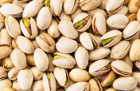Pistachios background. The view of the top. Stok Fotoğraf