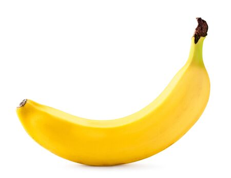 Ripe banana isolated on a white background.