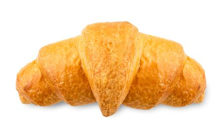 Croissant on a white background. The view of the top. Stok Fotoğraf