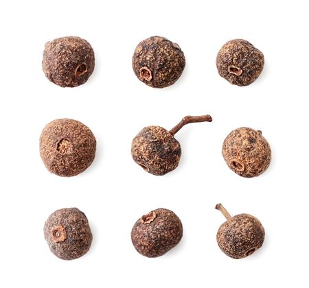 Allspice set on a white background. Isolated