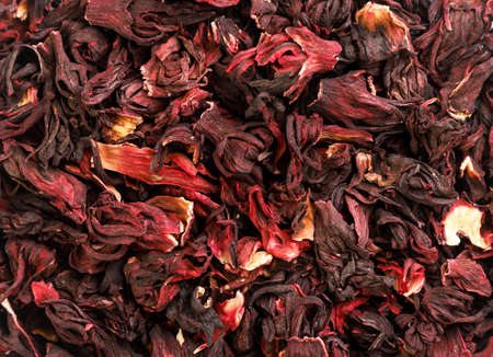 Hibiscus tea close-up, hibiscus background. The view from top Banque d'images