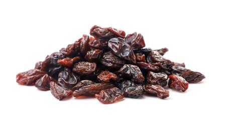 Heap of raisins on a white background. Isolated Stok Fotoğraf