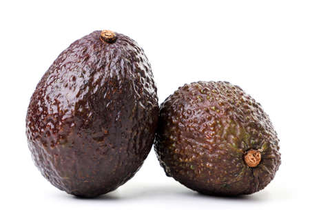 Haas avocado close-up on a white background. Isolated Zdjęcie Seryjne