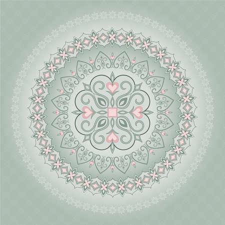 Vintage pattern en forme de cercle. Banque d'images - 42100582