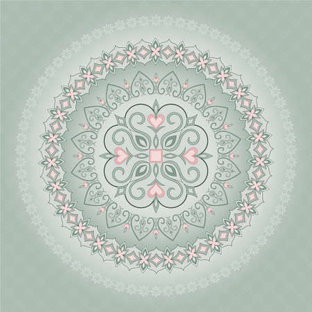 sophistication: vintage pattern in shape of a circle.