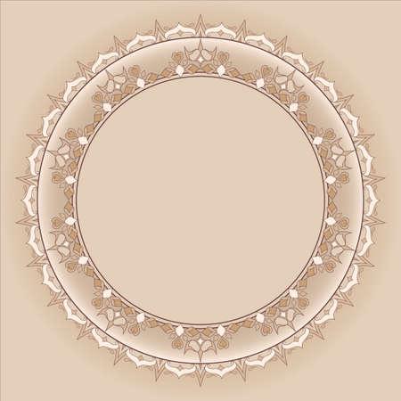sophistication: Elemento Marco adornado de filigrana para el dise�o y el lugar de texto.