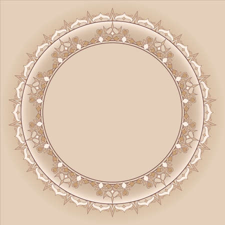 sophistication: Filigree frame Ornate element for design and place for text.  Illustration