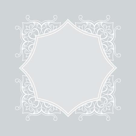 sophistication: Filigree frame in Eastern style.