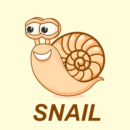 creep: Cartoon snail illustration isolated