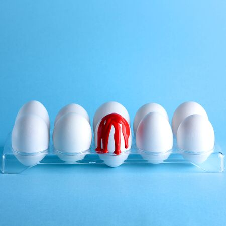 17 April-World hemophilia day. Creativity image with eggs. Hemophilia, bleeding, hemorrhage concept.Copy space for text. Reklamní fotografie