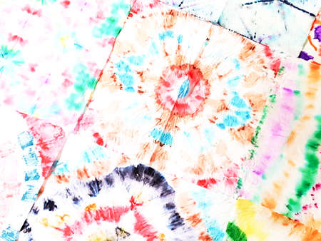Psychedelic Dye Texture Ethnic. Stripe Print. Bright Colors Abstract Aquarelle Painting. Rainbow Retro Pattern Design. Psychedelic Youthful Stripes. Haze Unicorn Ikat Ethnic.