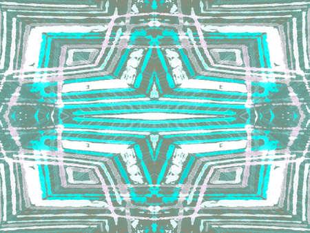 Psychedelic Abstract Adornment. Ethno Wallpaper. Rustic African Geo Mixes. Green Kitchen Majolic Decor. Aztec American Graphic Ornate Background. Hispanic Tunisian Decor
