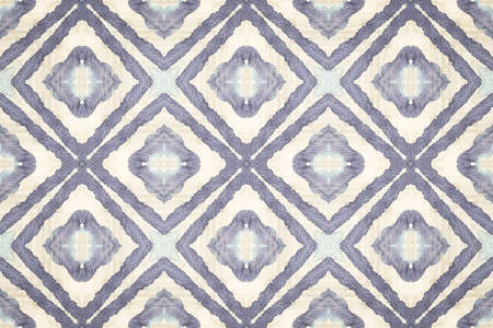 Ikat Shape Print. Nautical Boho Pattern. Shibori Print. Seamless Zig Zag Design. Tie Dye Wash. Blue White Design. Retro Design Pattern. Indigo Watercolor Template. Tie Dye Drawing.