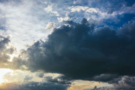 Beautiful cloudy sky before the rain. Dark clouds.