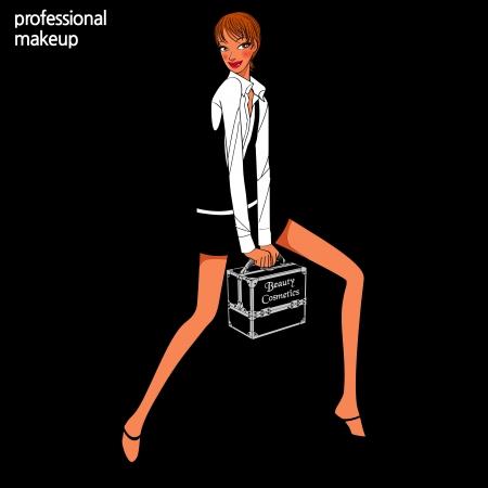 makeup artist: professional makeup artist Illustration