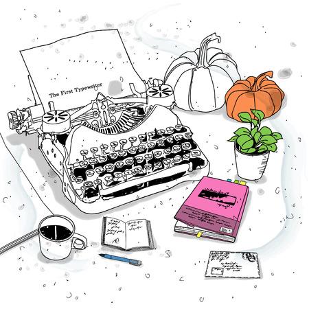 typewriter: vintage typewriter