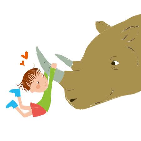 early childhood: my best friend is a rhino