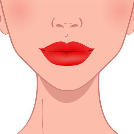 piękne czerwone kobiece usta