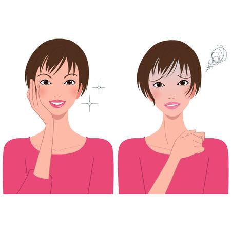 vivacity: womans face expression