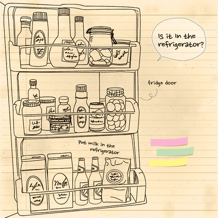 coolness: In the refrigerator