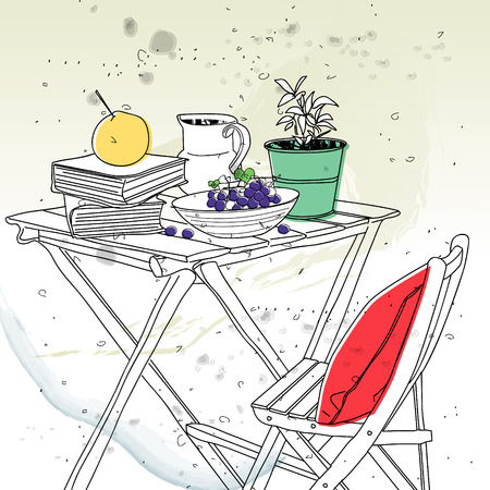 tabletop: tabletop still lifes Illustration