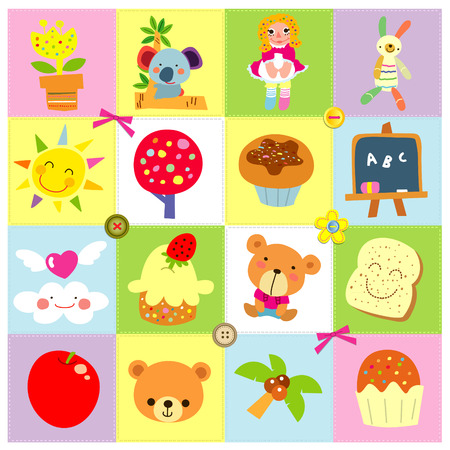 cuteness: cute icons Illustration