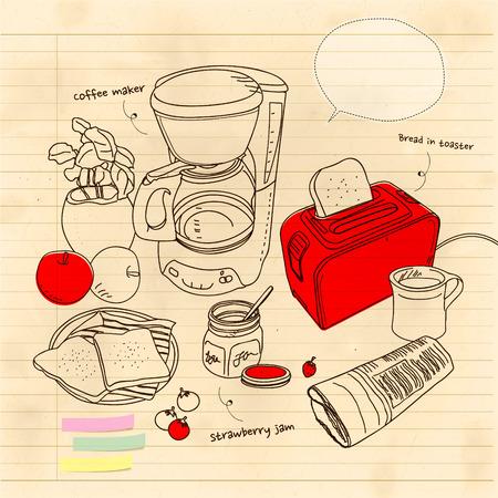 coffee maker: todav�a la vida con una cafetera y toaste