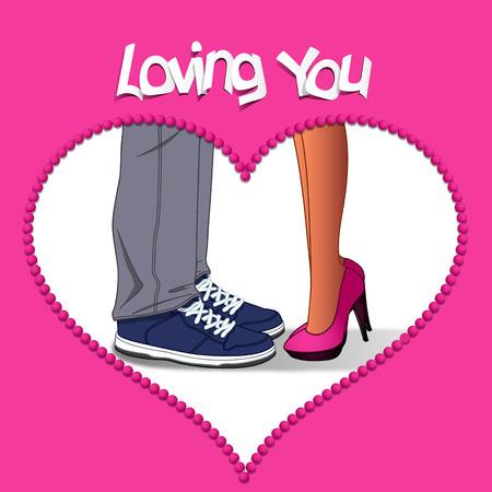 innamorati che si baciano: San Valentino amante Vettoriali