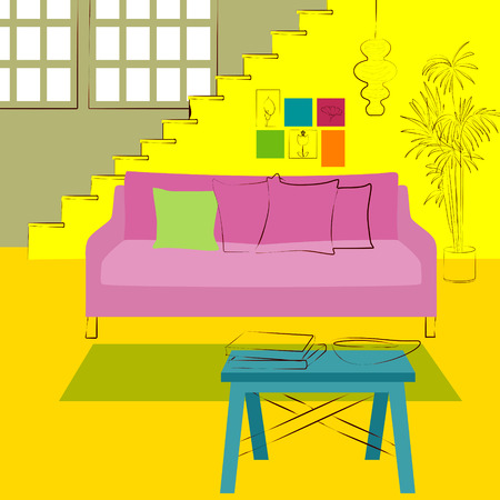 decora: staircase in the living room