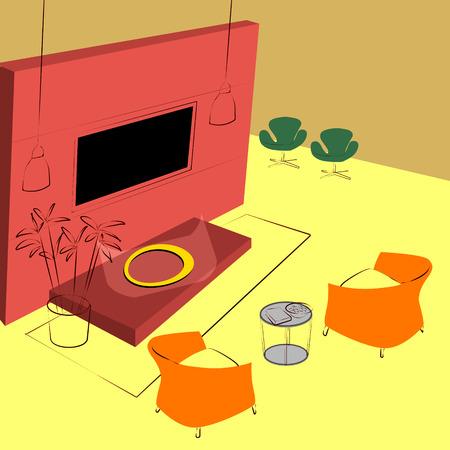 lighting fixtures: lobby lounge Illustration