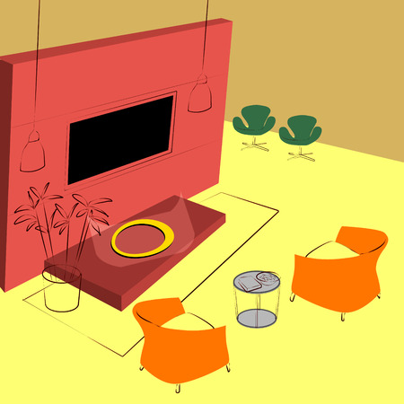 lobby lounge Illustration