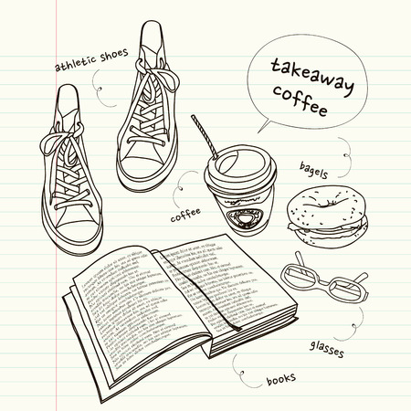 still: still life of book and shoes