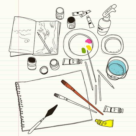 art supplies: art supplies
