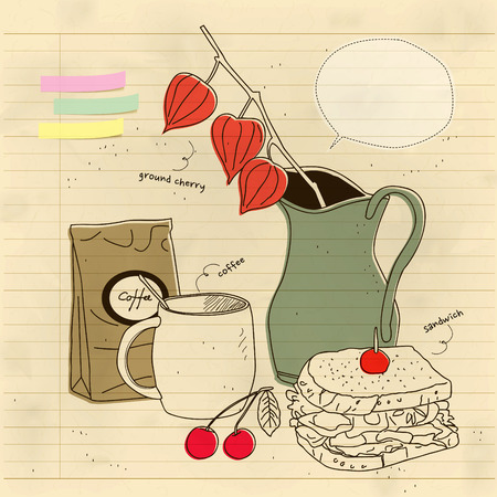 still life with lunch