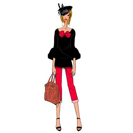 chic fashion model Ilustração