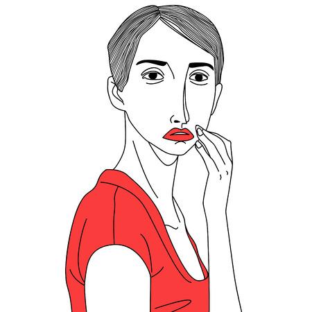beck: thinking beauty woman