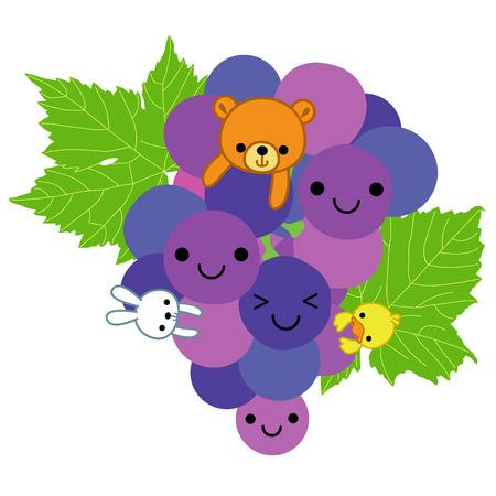 i like: i like grapes Illustration